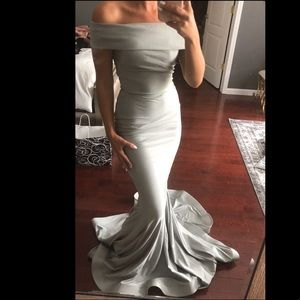 Brand new silver gown Size XS